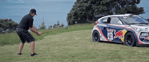 Speed Golf featuring the Veloster Rally Golf Cart and Rhys Millen