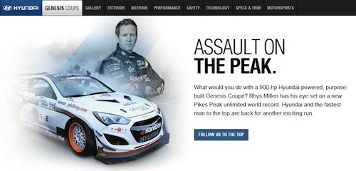 Pulse<sup>®</sup> and Partner, Rhys Millen Take Over Hyundai's Homepage